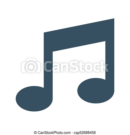 Vector music Icon on white background. - csp52688458