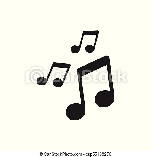 vector music icon sound note illustration rh canstockphoto com Music Note Icon Grey On White Background Simple Tattoo Music Note Icon