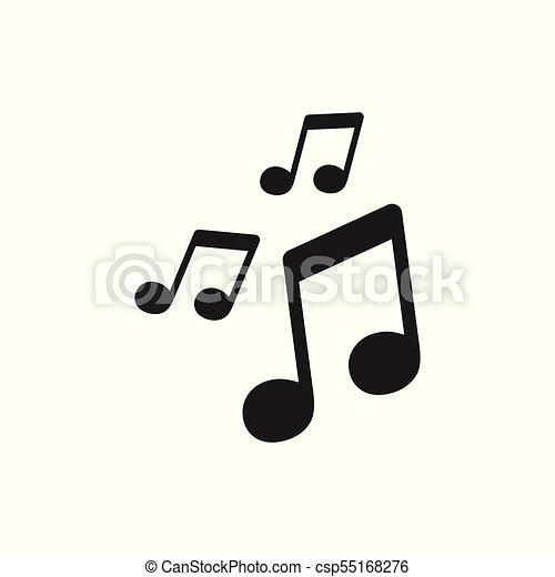 vector music icon sound note illustration rh canstockphoto ca vector musical notes vector music notation