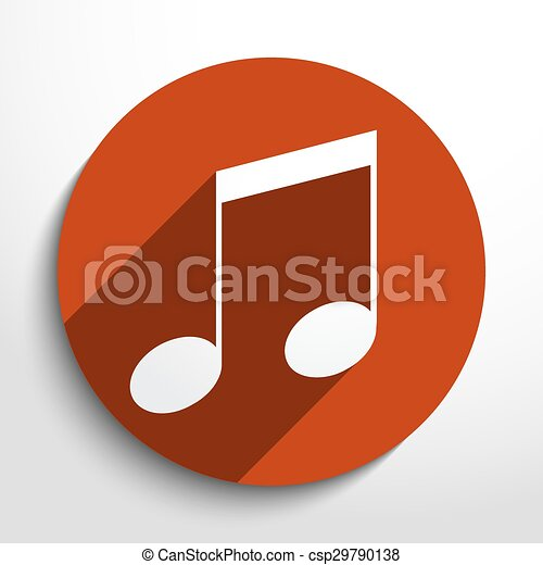 Vector music note web icon. - csp29790138