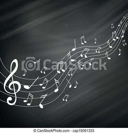 Vector Music Notes - csp15091333