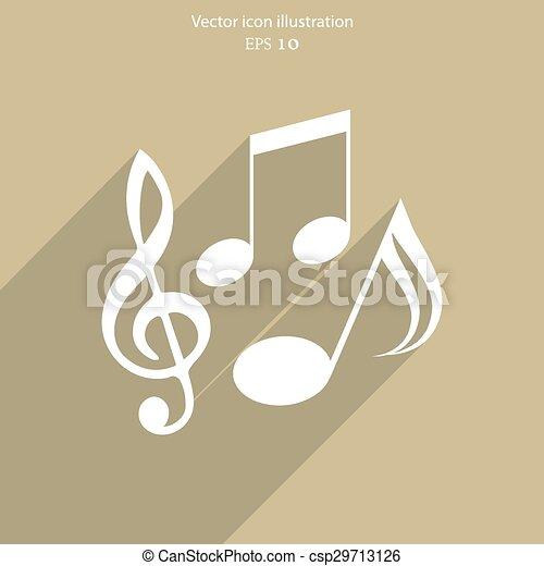 Vector music notes icon - csp29713126