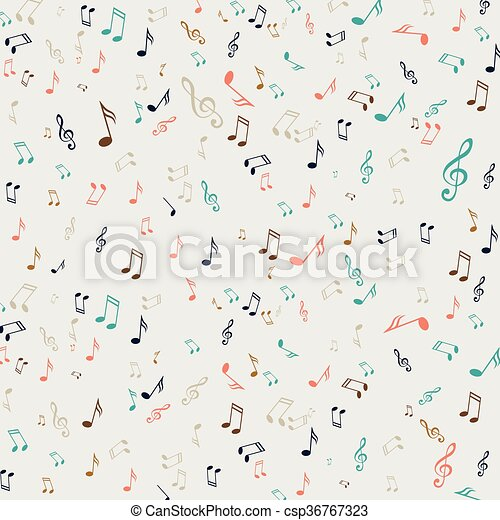 Vector Music Notes - csp36767323