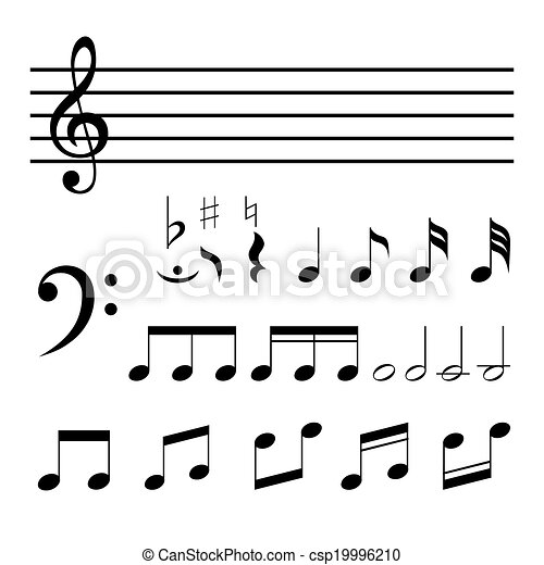 vector music notes - csp19996210