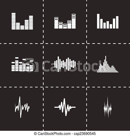Vector music soundwave icon set - csp23690545