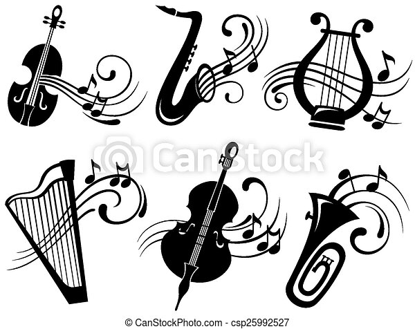 Vector Musical Icons Musical Symbols Vector Illustration Search