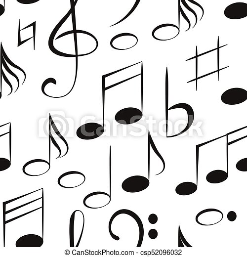vector musical notes pattern vector illustration eps 10 vectors rh canstockphoto ca Single Music Notes Music Note Icon