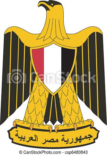 Vector national emblem of Egypt - csp6480843