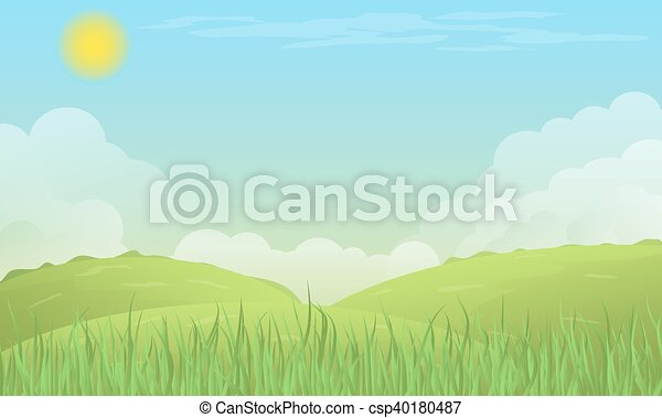 Vector nature background. - csp40180487