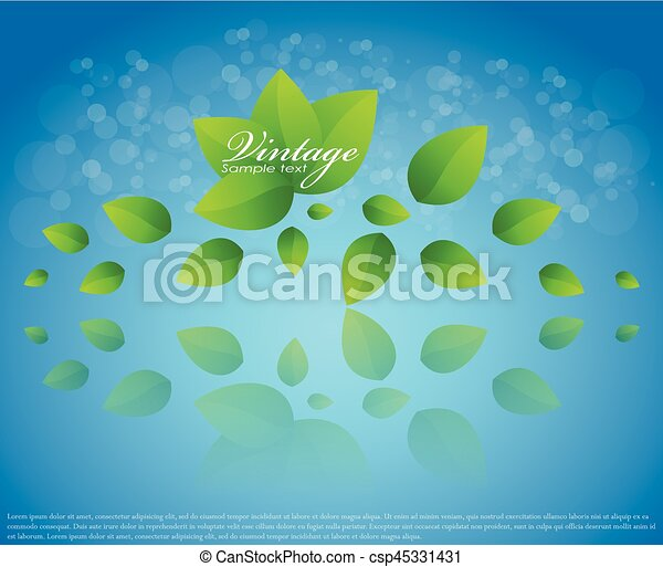 Vector nature background with leaves falling - csp45331431