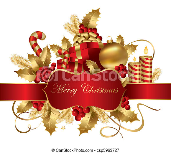 Ilustración navideña del vector - csp5963727