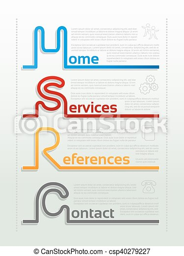 Services Menu Template from comps.canstockphoto.com