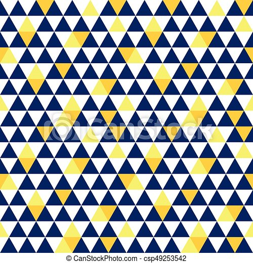 Vector Navy Blue And Yellow Triangle Texture Seamless Repeat Pattern Background Perfect For Modern Fabric Wallpaper Wrapping Stationery