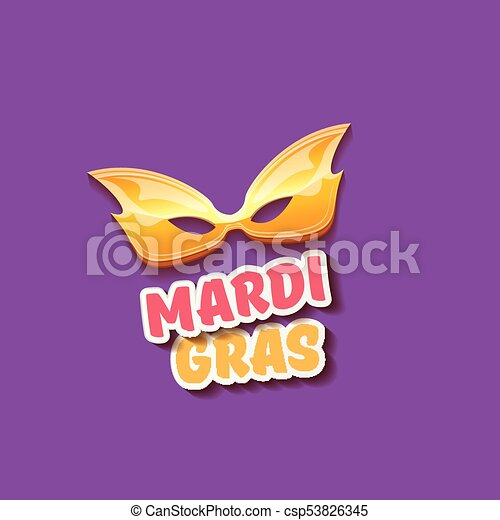 vector new orleans mardi gras vector background with carnival mask and text. vector mardi gras party or fat tuesday purple poster design template - csp53826345
