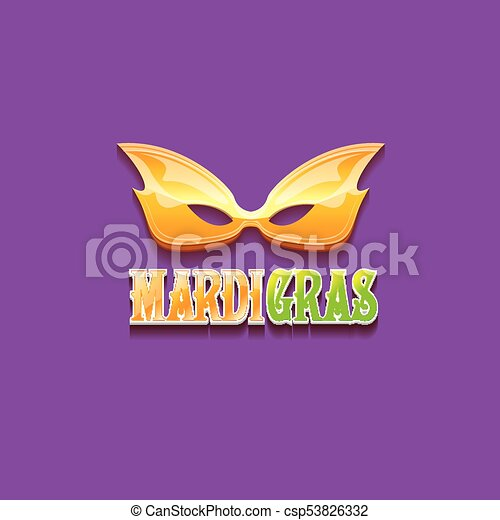 vector new orleans mardi gras vector background with carnival mask and text. vector mardi gras party or fat tuesday purple poster design template - csp53826332