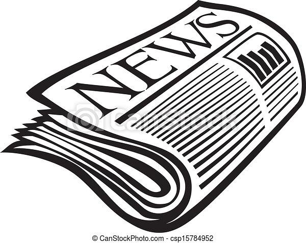 Vector newspaper icon - csp15784952