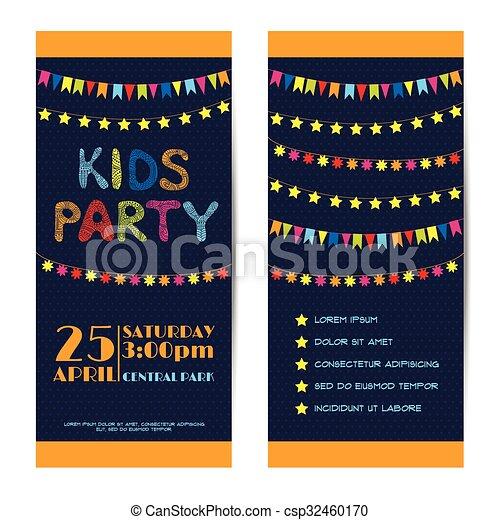 Pancartas De Vector Tarjetas De Invitación Listas Fiesta