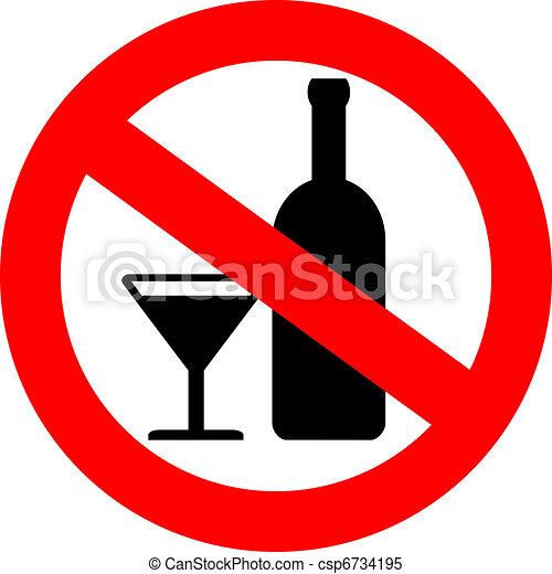 Vector no alcohol sign - csp6734195