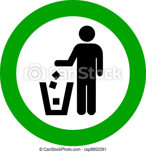 Vector no littering round sign - csp9802391