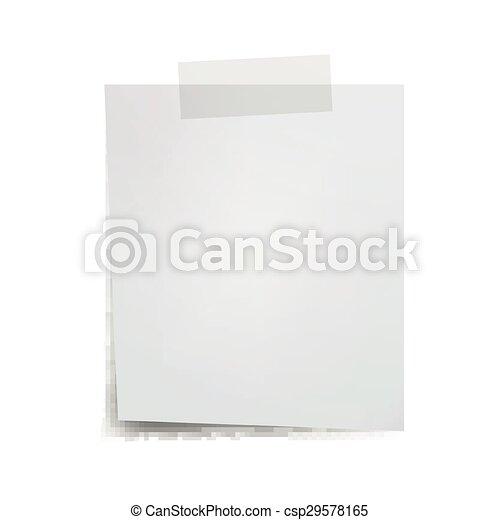 Vector Note Paper - csp29578165