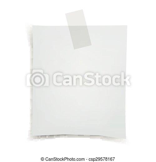 Vector Note Paper - csp29578167