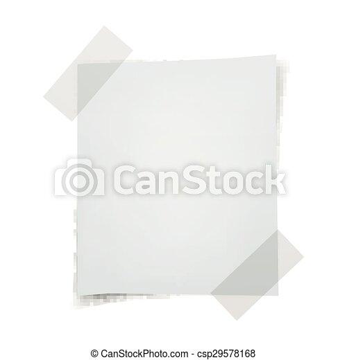 Vector Note Paper - csp29578168