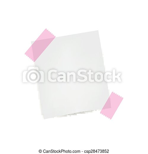 Vector Note Paper - csp28473852