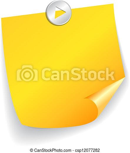 Vector note paper - csp12077282