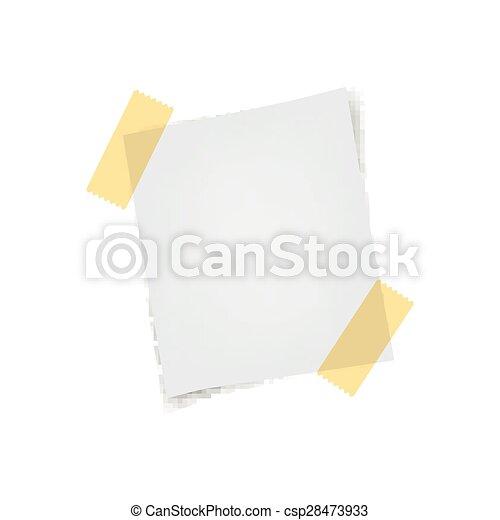 Vector Note Paper - csp28473933