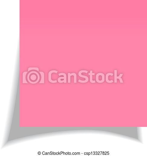 Vector note paper - csp13327825