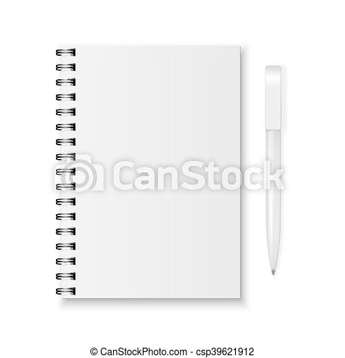 Vector notebook and pen - csp39621912