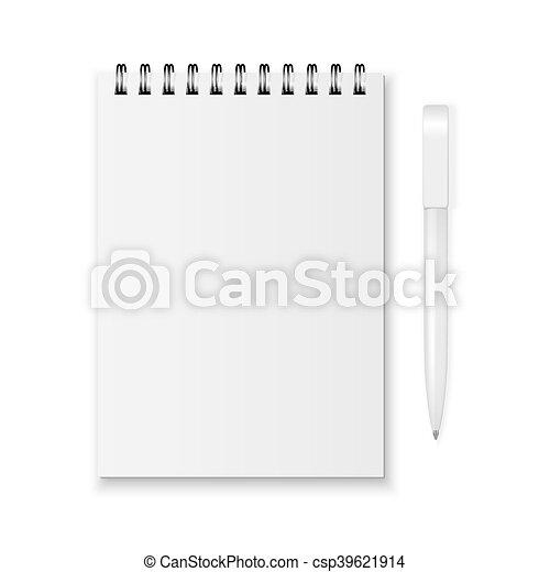 Vector notebook and pen - csp39621914