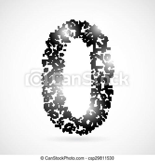Vector number zero from numbers. - csp29811530