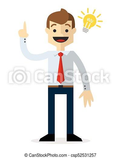Vector of a businessman with an idea - csp52531257
