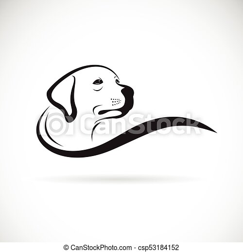 Vector Of A Dog Head Design Labrador Retriever On White Background