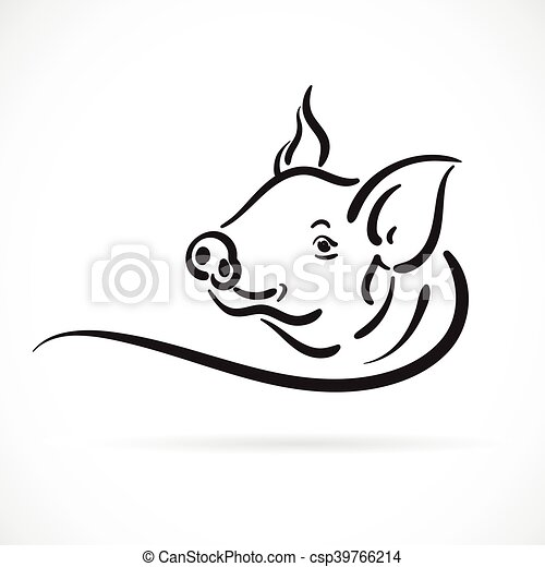 Vector of a pig logo on white background. - csp39766214