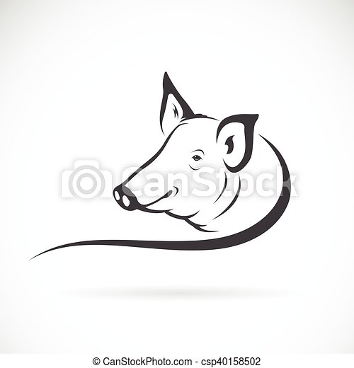 Vector of a pig logo on white background. - csp40158502