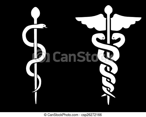 Vector of a Rod of Asclepius and a Caduceus - csp26272166