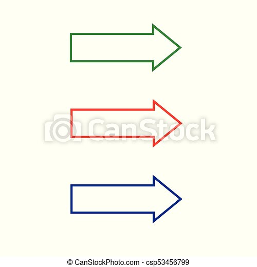 Vector of arrows isolated on a white background. - csp53456799