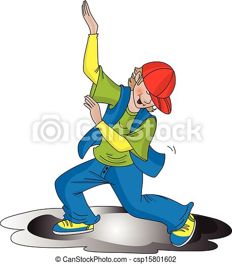 Vector of boy dancing. - csp15801602