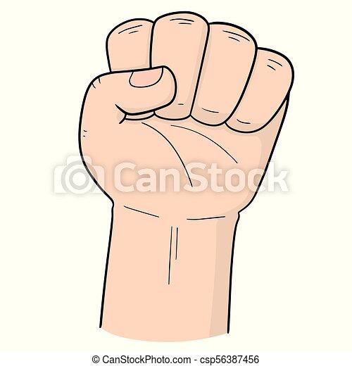 vector of cartoon fist - csp56387456