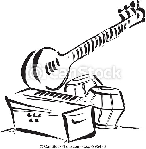 vector of eastern classical instruments clip art vector search rh canstockphoto com clipart instrument de mesure instrument clip art free