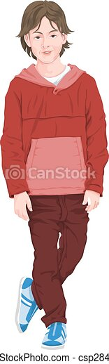 Vector of fashionable boy - csp28494726