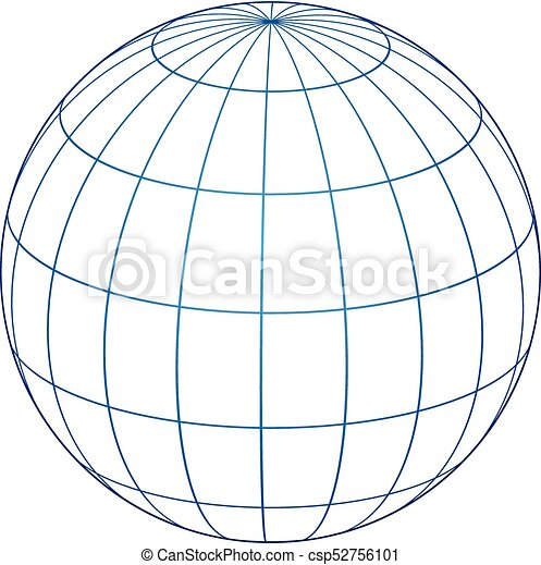 Beautiful Vector Of Globe Lines