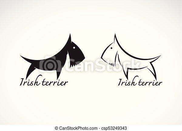 Vector Of Irish Terrier Dog Esign On White Background Symbol