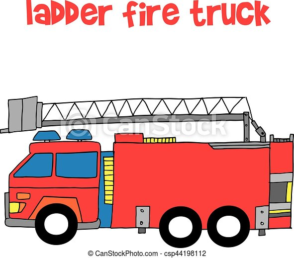 vector of ladder fire truck collection stock vector clip art rh canstockphoto com fire truck vector clipart fire truck vector free