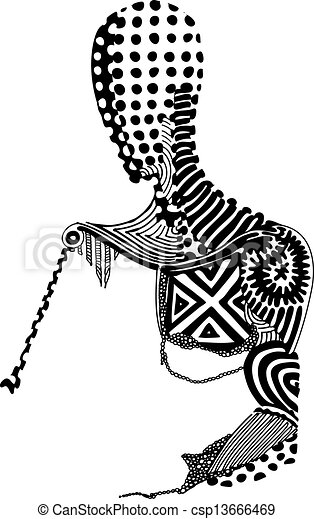 vector of patterned human body a black and white vector illustration of a patterned skeleton body and head with spots and https www canstockphoto com vector of patterned human body 13666469 html