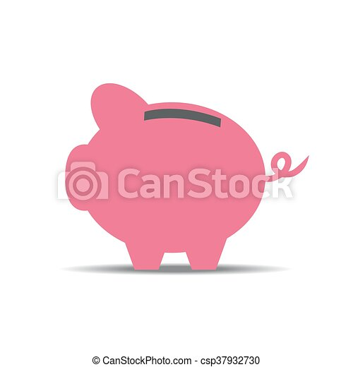 vector of piggy with currency - csp37932730