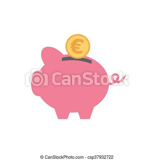 vector of piggy with currency - csp37932722