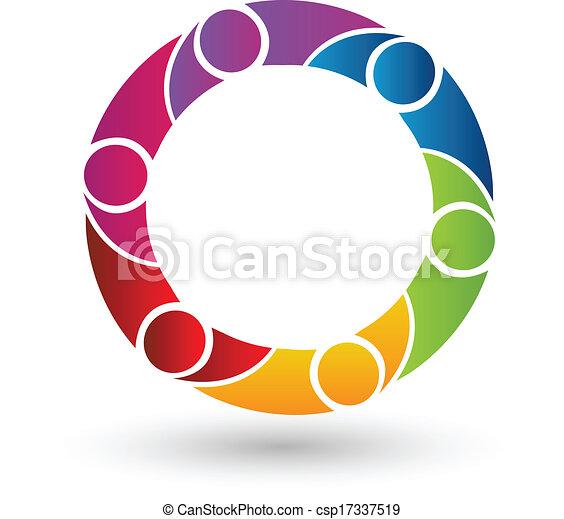 Vector of Teamwork People logo - csp17337519
